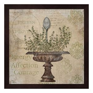 """French Thyme"" Framed Wall Art"