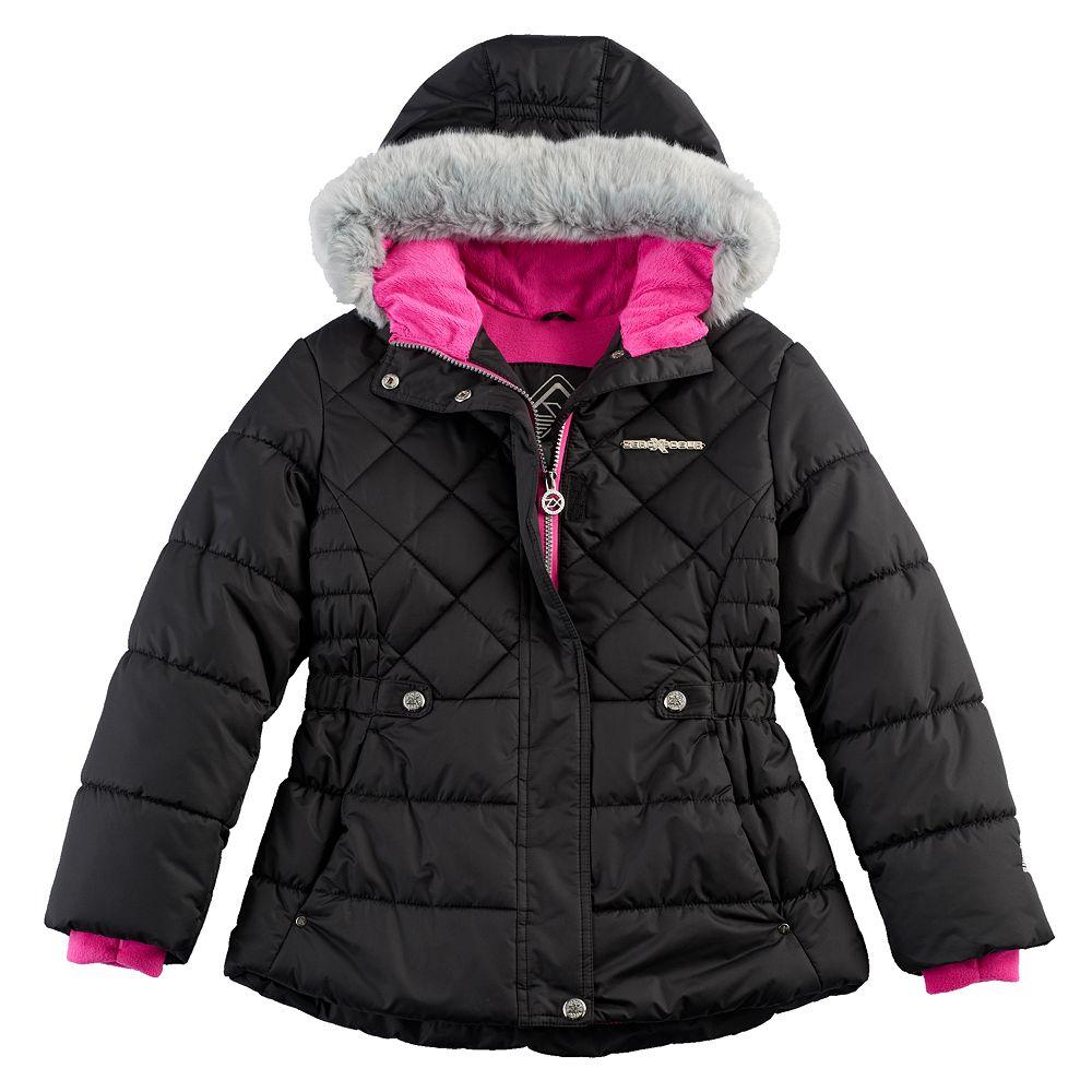 Girls Black Puffer Coat Han Coats