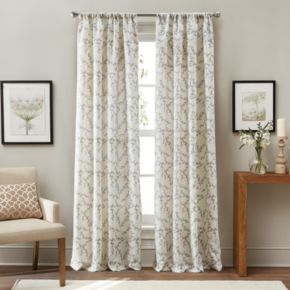 Window Curtainworks 1-Panel Sonnet Botanical Window Curtain