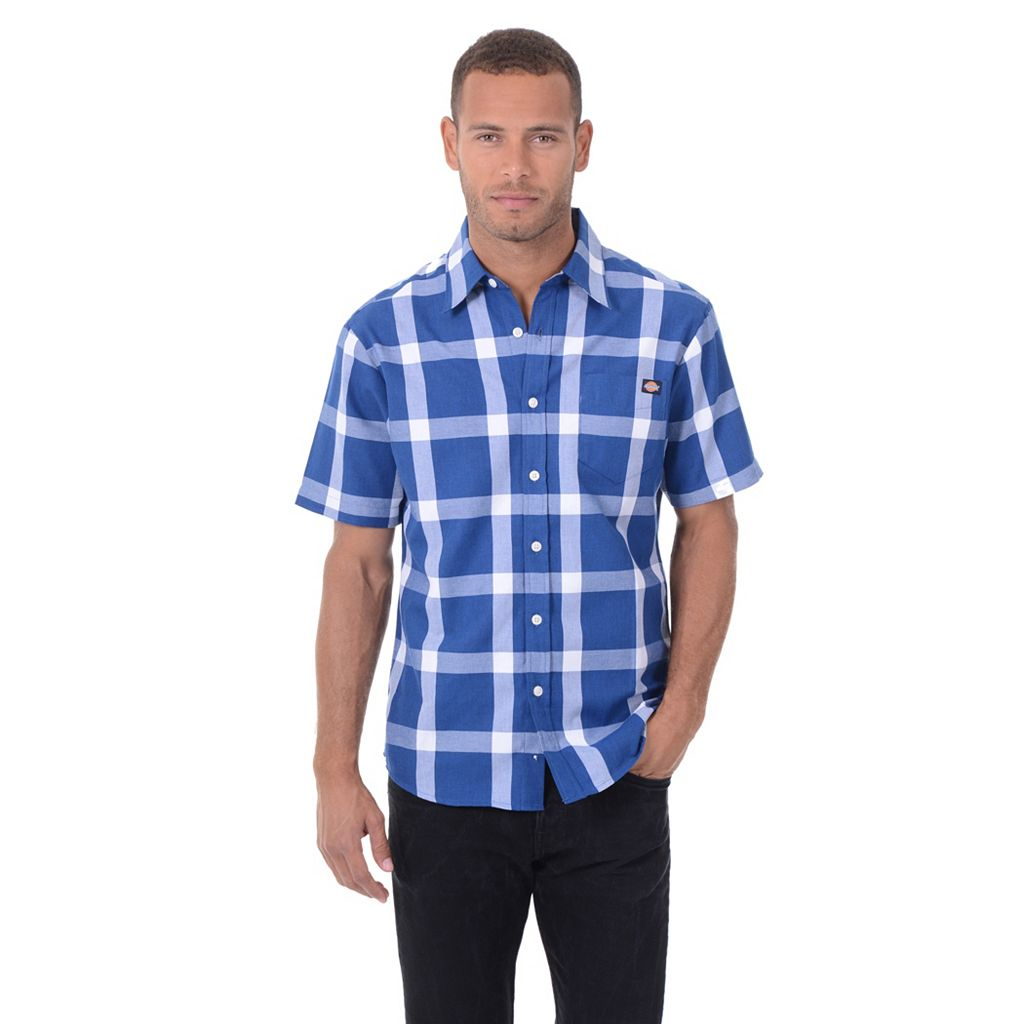 Big & Tall Dickies Classic-Fit Plaid Button-Down Shirt