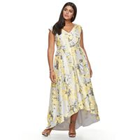 Plus Size Chaya Floral Fit & Flare Evening Gown
