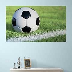 RoomMates Soccer Peel & Stick Mural Wall Decal