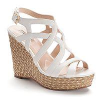 Jennifer Lopez Women's Espadrille Wedge Sandals