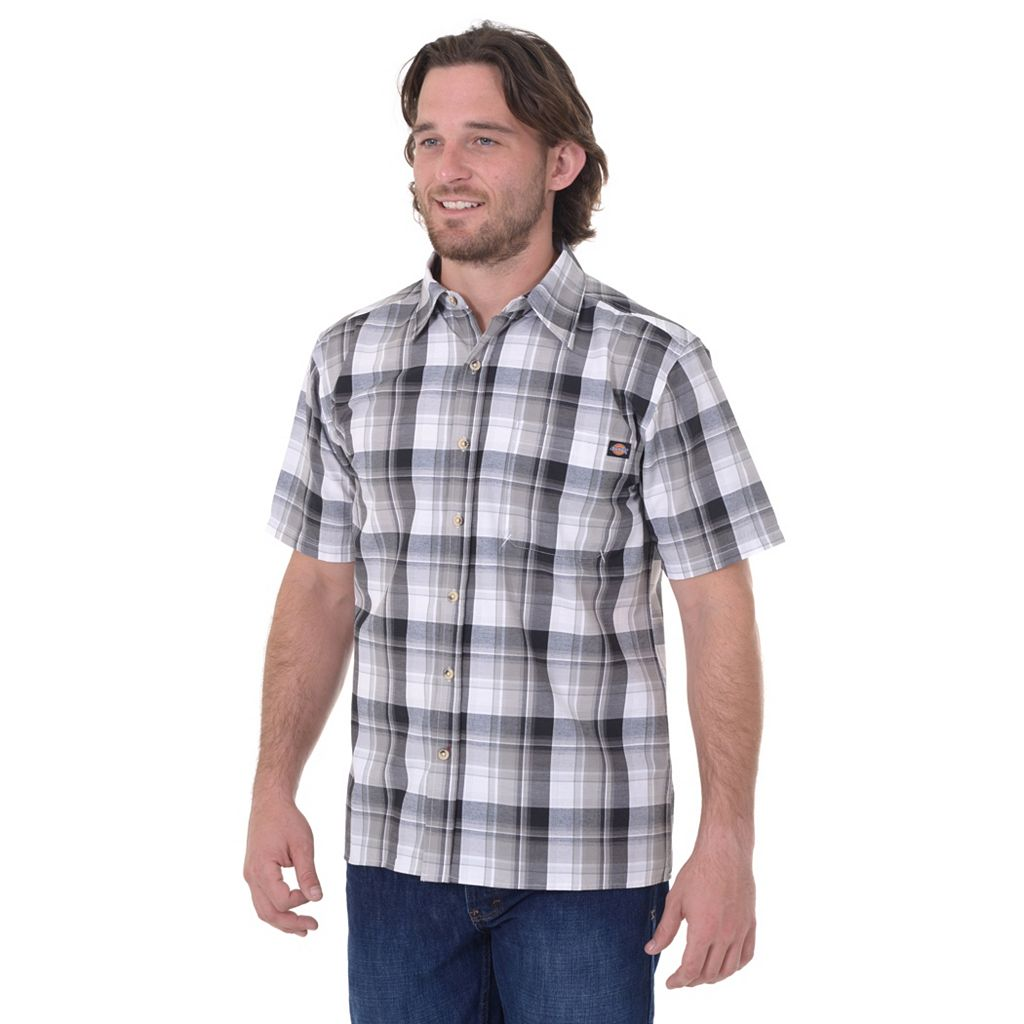 Big & Tall Dickies Plaid Button-Down Shirt