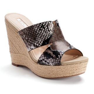 Jennifer Lopez Suri Women's Espadrille Wedge Sandals