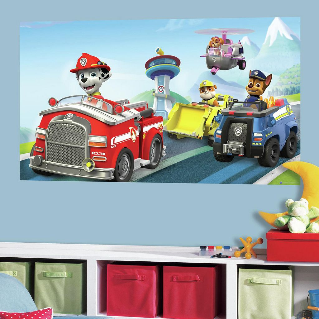 Paw Patrol Peel & Stick Mural Wall Decal by RoomMates