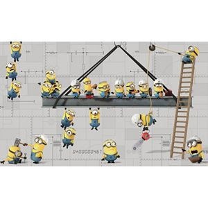 Despicable Me Minions At Work Peel & Stick Mural Wall Decal by RoomMates