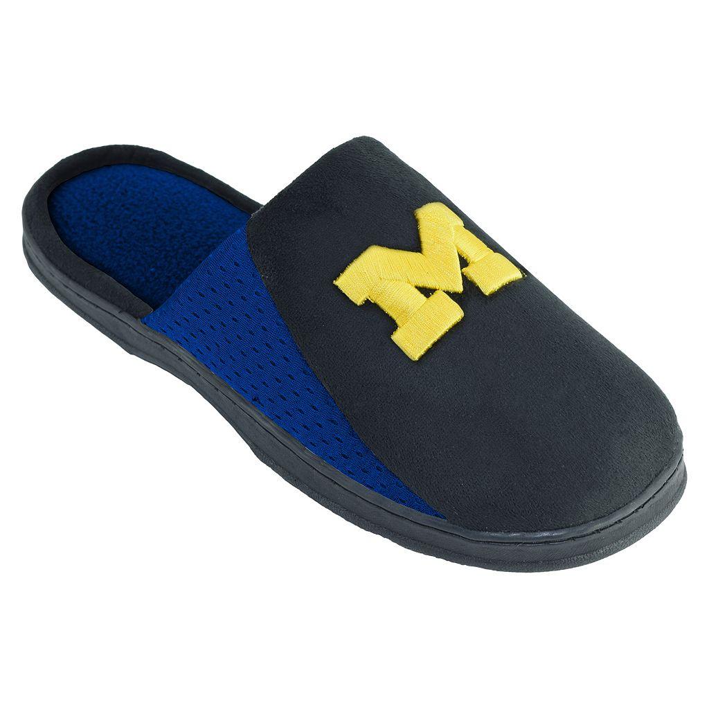 Men's Michigan Wolverines Scuff Slippers