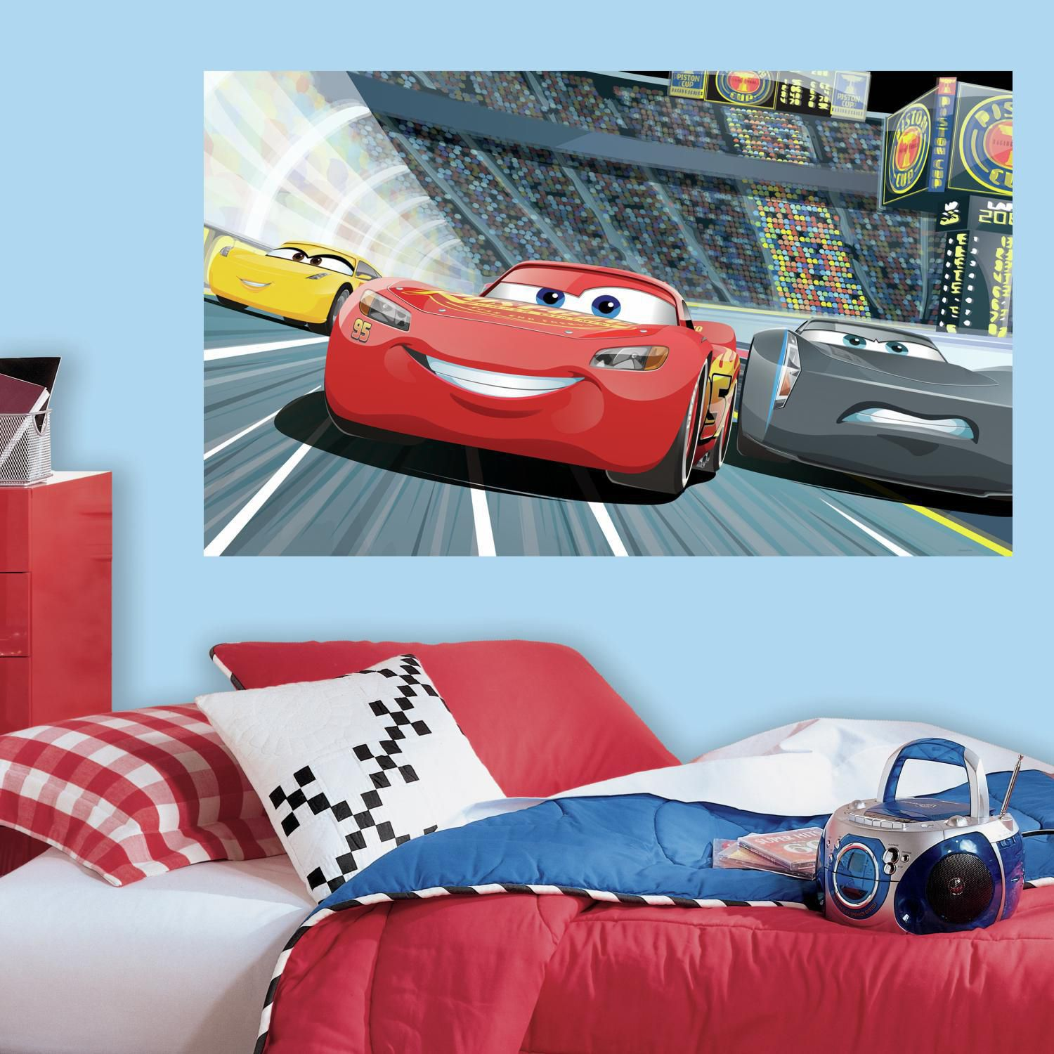 Amazing Disney / Pixar Cars 3 Peel U0026 Stick Mural Wall Decal By RoomMates Part 25