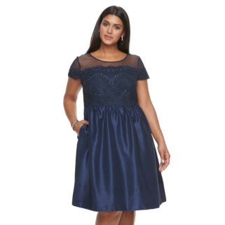 Plus Size Chaya Fit & Flare Evening Dress