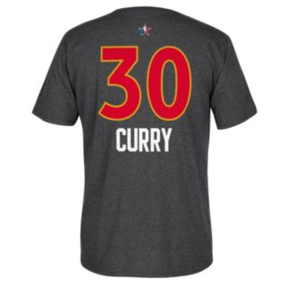 Men's adidas Golden State Warriors Stephen Curry All-Star Name & Number Tee