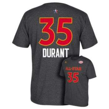 Men's adidas Golden State Warriors Kevin Durant All-Star Name & Number Tee