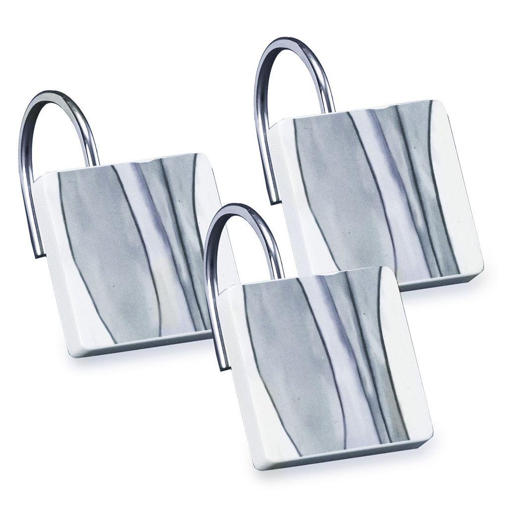 Popular Bath Shell Rummel 12-pack Tidelines Shower Curtain Hook