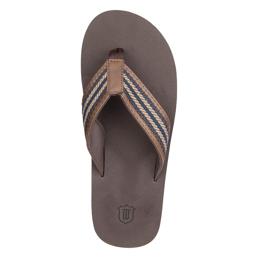 Men's Wembley Striped Stitched Flip-Flops