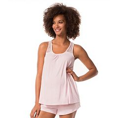 Maternity Pip & Vine by Rosie Pope Lace Tank & Shorts Sleep Set