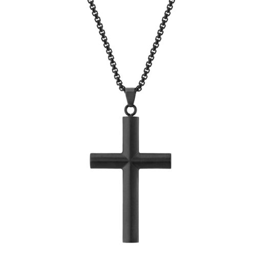 LYNXMen's Stainless Steel Cross Pendant Necklace