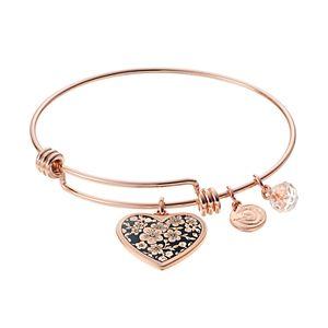 love this lifeGrandma Heart Charm Bangle Bracelet