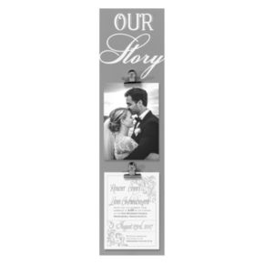 """Malden """"Our Story"""" 2-Opening Photo Clip Frame"""