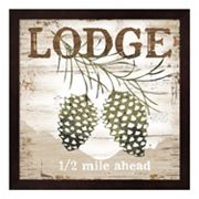 'Lodge' Framed Wall Art