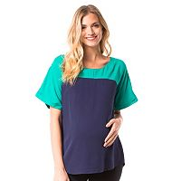 Maternity Pip & Vine by Rosie Pope Colorblock Tee