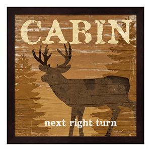 """Cabin"" Framed Wall Art"