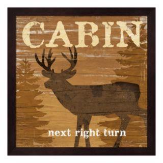 """""""Cabin"""" Framed Wall Art"""