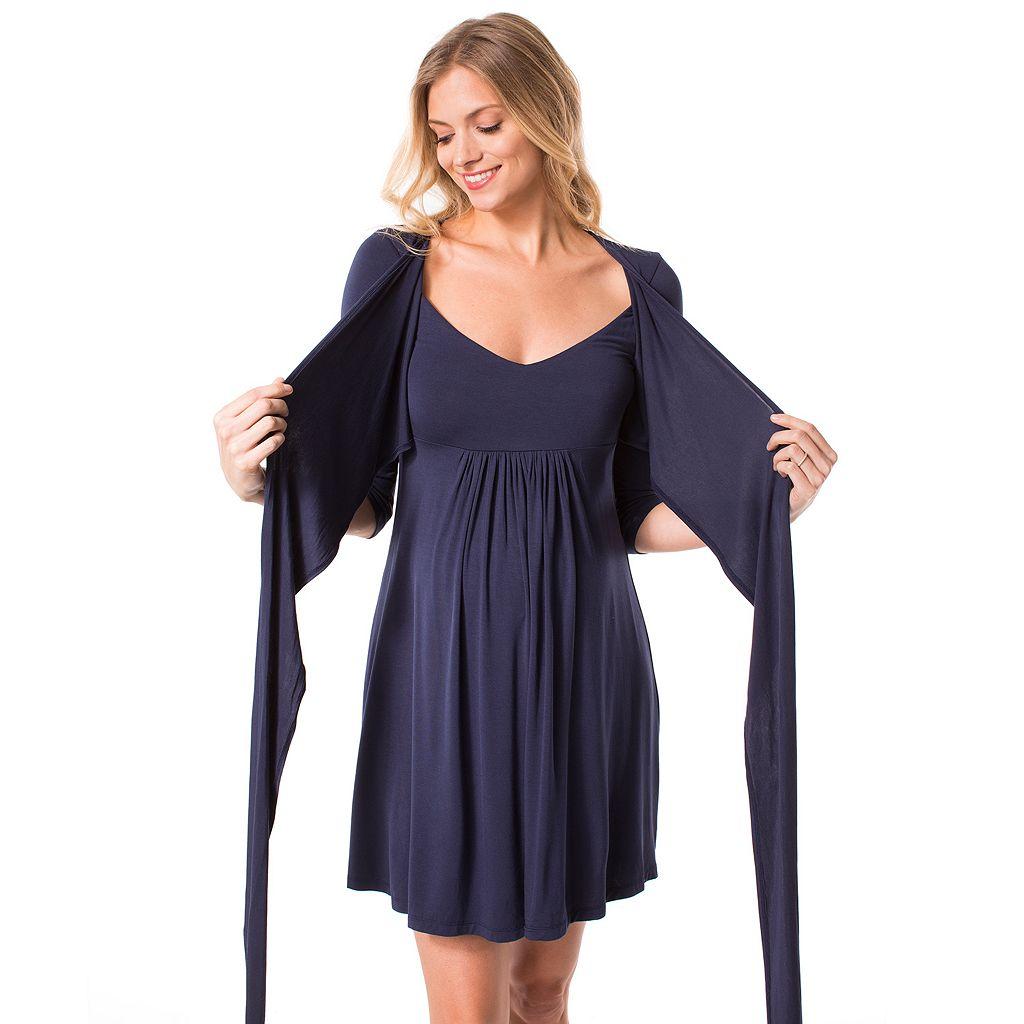 Maternity Pip & Vine by Rosie Pope Faux-Wrap Nursing Dress