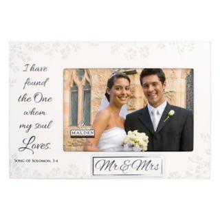 """Malden """"Mr. & Mrs."""" 4"""" x 6"""" Frame"""
