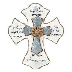 Malden 'Faith' Rustic Cross Wall Decor