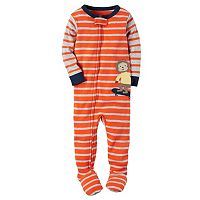 Baby Boy Carter's Striped Animal Footed Pajamas