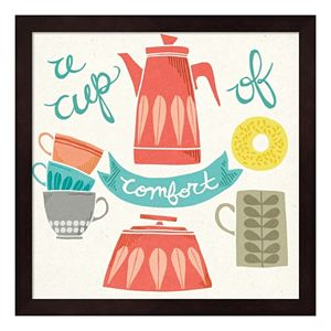 """""""A Cup Of Comfort"""" Framed Wall Art"""