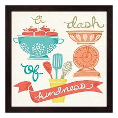 'A Dash Of Kindness' Framed Wall Art