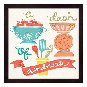 """A Dash Of Kindness"" Framed Wall Art"