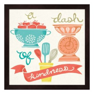 """A Dash Of Kindness"" Framed Wall Art"