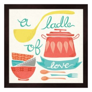 """A Ladle Of Love"" Framed Wall Art"