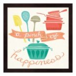 """A Pinch Of Happiness"" Framed Wall Art"