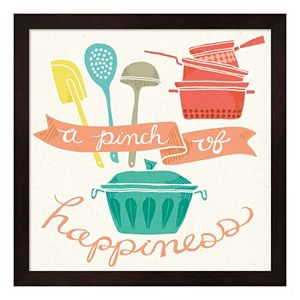 """""""A Pinch Of Happiness"""" Framed Wall Art"""