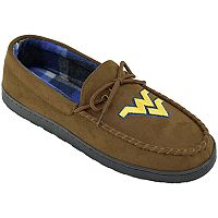 Men's Wide-Width West Virginia Mountaineers Microsuede Moccasins