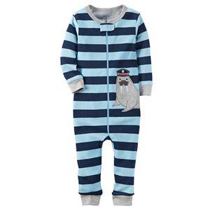 Toddler Boy Carter's Striped One-Piece Pajamas