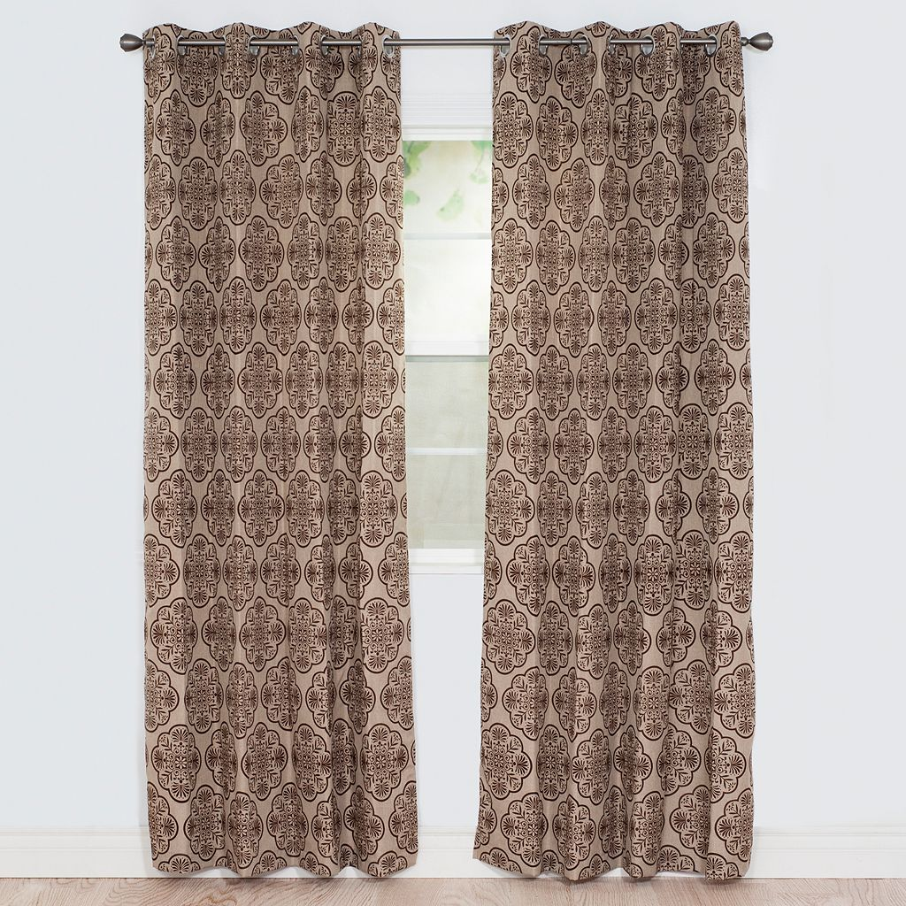 Portsmouth Home 2-pack Dana Flocked Curtain