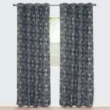 Portsmouth Home 2-pack Dana Flocked Window Curtain