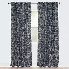 Portsmouth Home 2-pack Dana Flocked Window Curtains