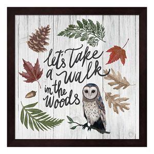 """Walk In The Woods"" Framed Wall Art"