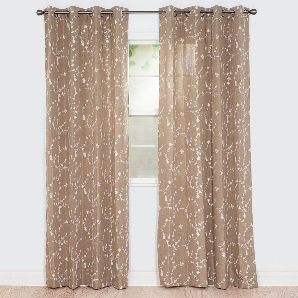 Portsmouth Home 2-pack Inas Embroidered Window Curtains