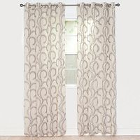 Portsmouth Home Andrea Embroidered Window Curtain Set
