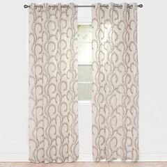 Portsmouth Home 2-pack Andrea Embroidered Window Curtains