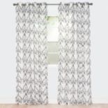 Portsmouth Home 2-pack Valencia Embroidered Window Curtain