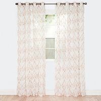 Portsmouth Home 2-pack Valencia Embroidered Window Curtains