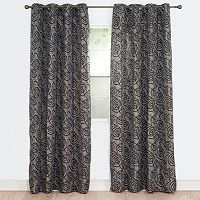 Portsmouth Home Joy Jacquard Window Curtain Set