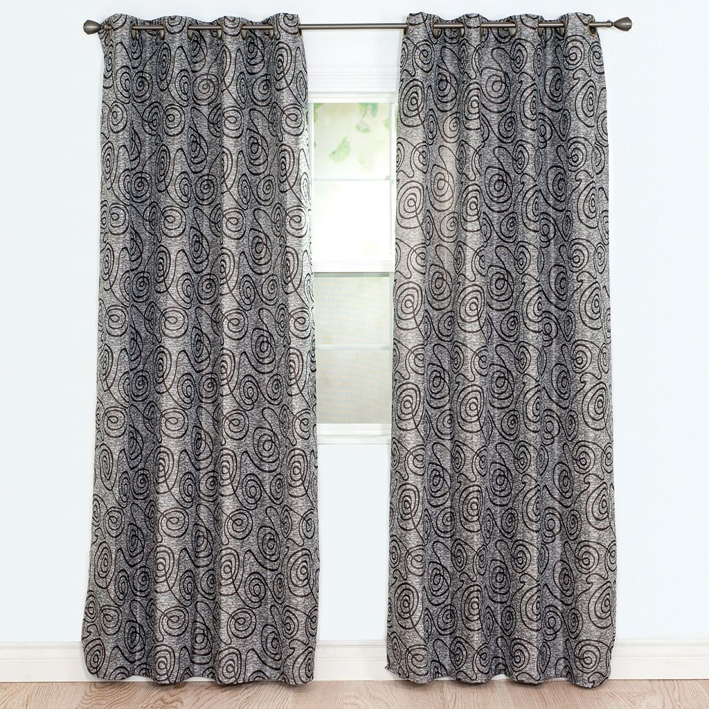 Portsmouth Home 2-pack Joy Jacquard Curtain